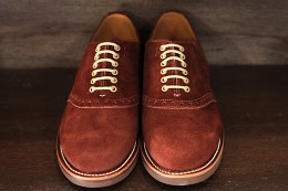 Glad Hand x Regal Saddle Suede Shoes -BROWN